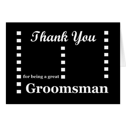 GROOMSMAN Wedding Thank You - Zipper Checks Greeting Card