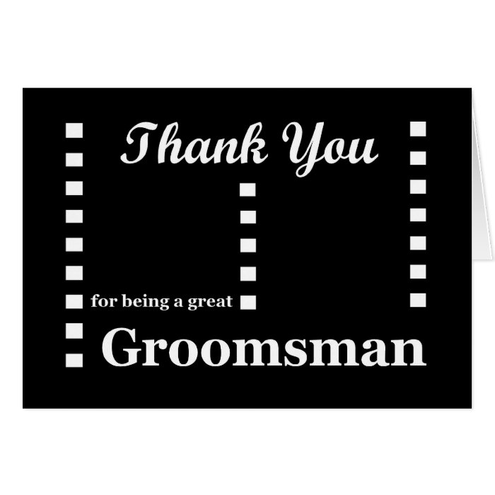GROOMSMAN Wedding Thank You - Zipper Checks Greeting Card