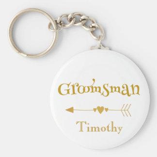 Groomsman wedding token key ring