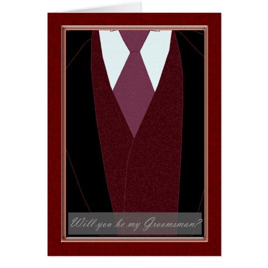 Groomsman, Will you be my Groomsman Card