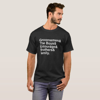 Groomsmen Matching T-shirts- Creative Bachelor Tee