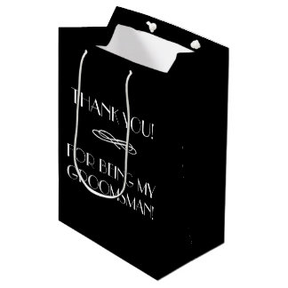 Groomsmen or Best Man Thank You Bag | Monogrammed