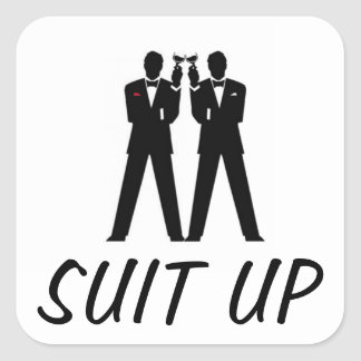 Groomsmen Party Square Sticker