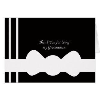 Groomsmen Thank You Card