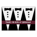 GROOMSMEN Thank You - Three Tuxedos - Customisable Card