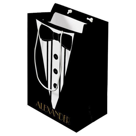 Groomsmen Tuxedo Personalised Wedding Thank You Medium Gift