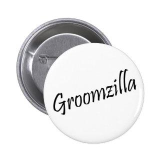 Groomzilla (Blk) 6 Cm Round Badge