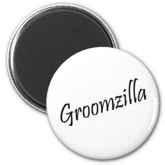 Groomzilla (Blk) 6 Cm Round Magnet