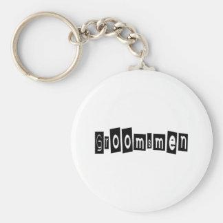Grooomsman Basic Round Button Key Ring