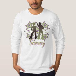 Grooooovy - American Apparel Long Sleeve (Fitted) T-Shirt