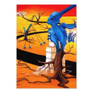 """Groove Warrior"" Original Artwork by R.A.Brown 13 Cm X 18 Cm Invitation Card"