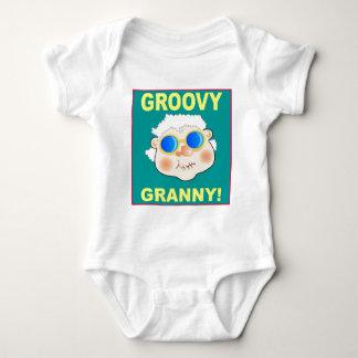 Groovey Granny Cartoon Baby Bodysuit