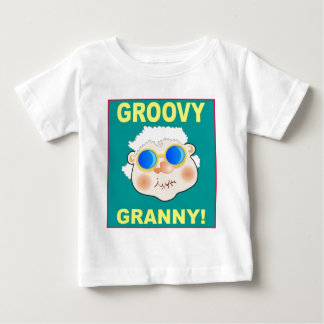 Groovey Granny Cartoon Baby T-Shirt