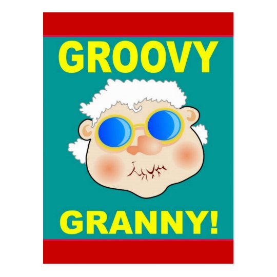 Groovey Granny Cartoon Postcard