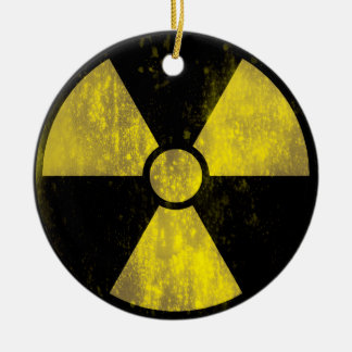 Groovie Radioactive Warning Sign Ornament