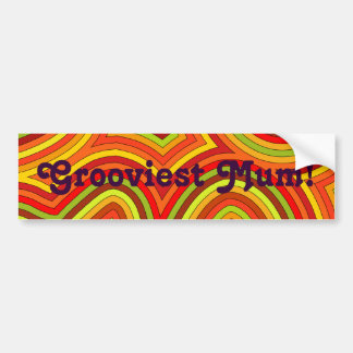Grooviest Mum Bumper Sticker
