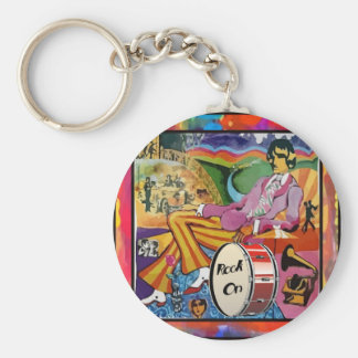 Groovin' to the Beat Keychain