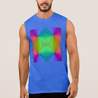 Groovy 3-D Retro Pattern Sleeveless Shirt