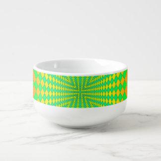 Groovy 3-D Retro Pattern Soup Mug