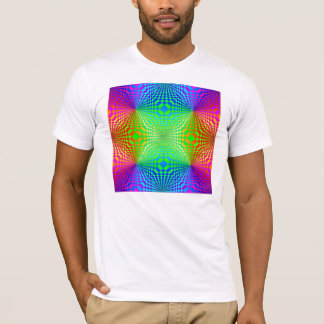 Groovy 3-D Retro Pattern T-Shirt