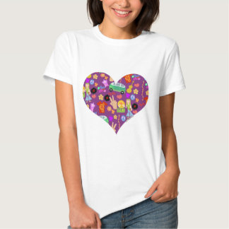 Groovy 60's Purple Love Tshirts