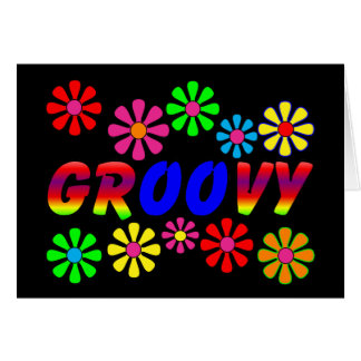 Groovy 70 s Retro Flower Power Gifts Card