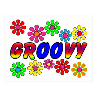 Groovy 70 s Retro Flower Power Gifts Postcards