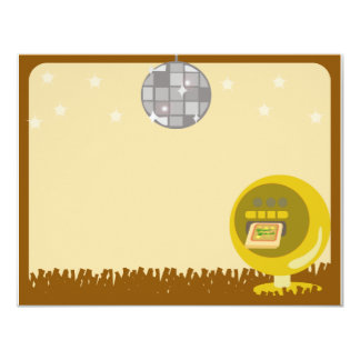 Groovy 70's Disco Party 11 Cm X 14 Cm Invitation Card
