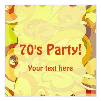 Groovy 70s Stationary Custom Announcements
