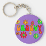 Groovy 70's T-Shirts and Gifts Key Chain