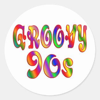Groovy 90s sticker