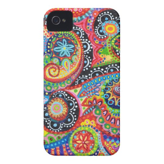 Groovy Abstract iPhone 4/4S Barely There Case-Mate