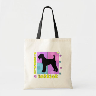 Groovy Airedale Terrier Tote Bag