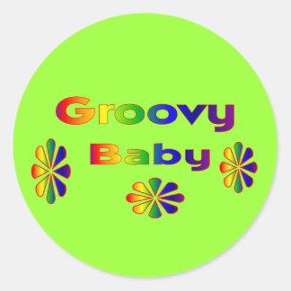 groovy baby classic round sticker