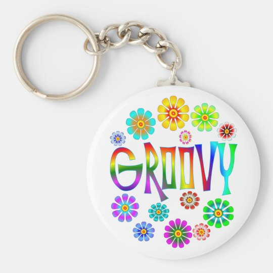 GROOVY BASIC ROUND BUTTON KEY RING