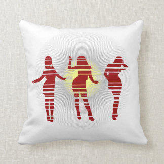 Groovy Beach Party Dancer and Sunshine Throw Pillow