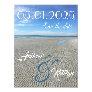 Groovy Beach Save the Date Magnet