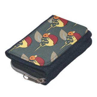 Groovy bird denim purse wallet