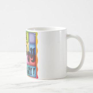 Groovy Birthday Basic White Mug