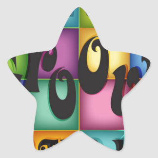 Groovy Birthday Star Sticker