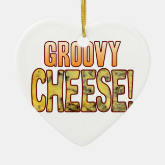 Groovy Blue Cheese Ceramic Heart Decoration