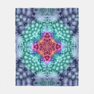 Groovy  Blue  Custom Fleece Blanket 3 sizes
