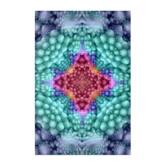 Groovy Blue Kaleidoscope  Acrylic Wall Art