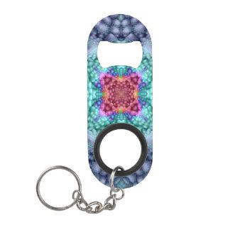Groovy   Blue  Kaleidoscope  Bottle Openers