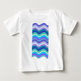 Groovy blue, purple and teal wavy lines pattern t shirt