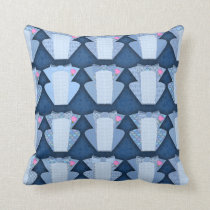 Groovy Blue Tux Pattern Cushion