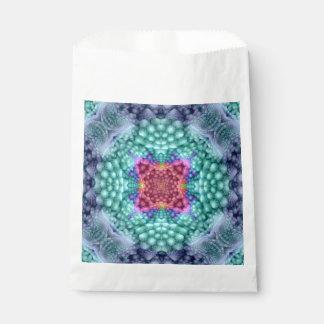 Groovy Blue Vintage Kaleidoscope Favor Bags