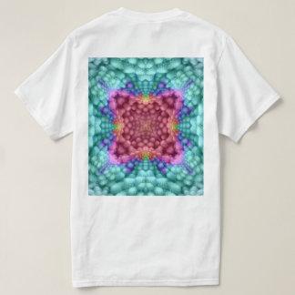 Groovy Blue Vintage Kaleidoscope  Shirts  Back
