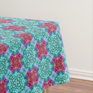 Groovy  Blue  Vintage Kaleidoscope   Tablecloth