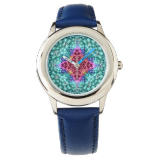 Groovy Blue Vintage  Vintage Kids Watch